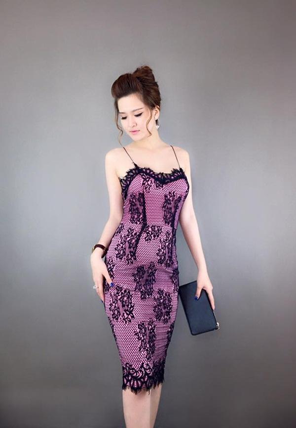 váy đầm 2 dây dự tiệc