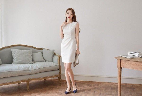 váy đầm dự tiệc màu trắng