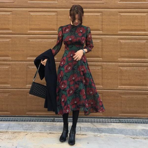 váy đầm dự tiệc mùa đông