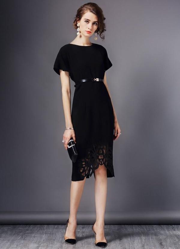 váy đầm dự tiệc kín đáo