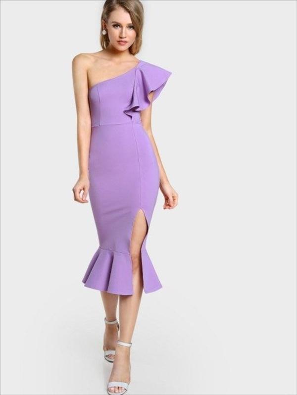 váy đầm dự tiệc lệch vai