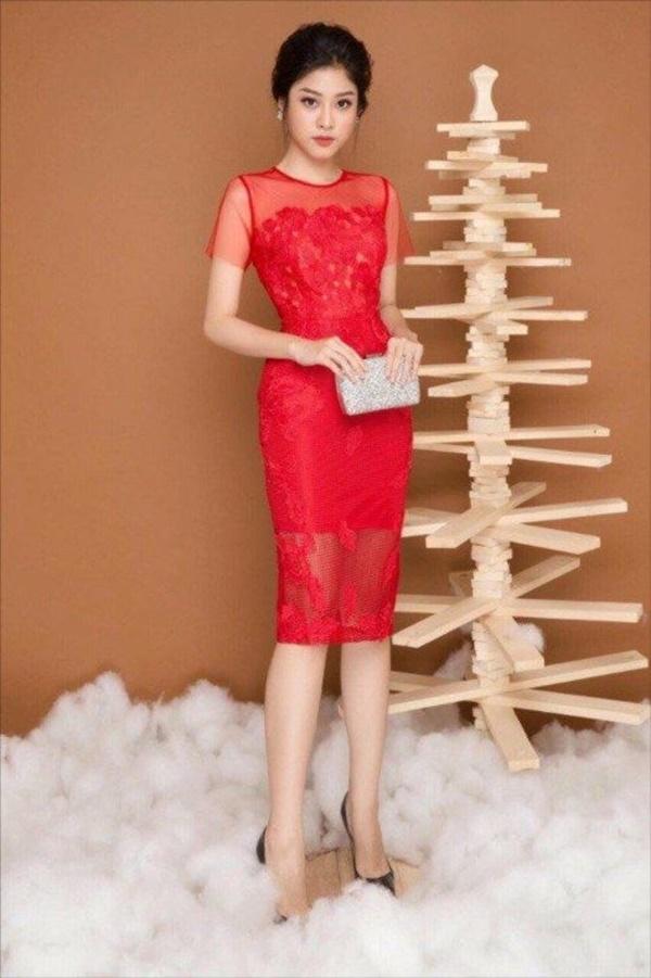 váy đầm dự tiệc màu đỏ