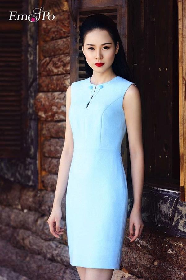 váy đầm dự tiệc màu xanh