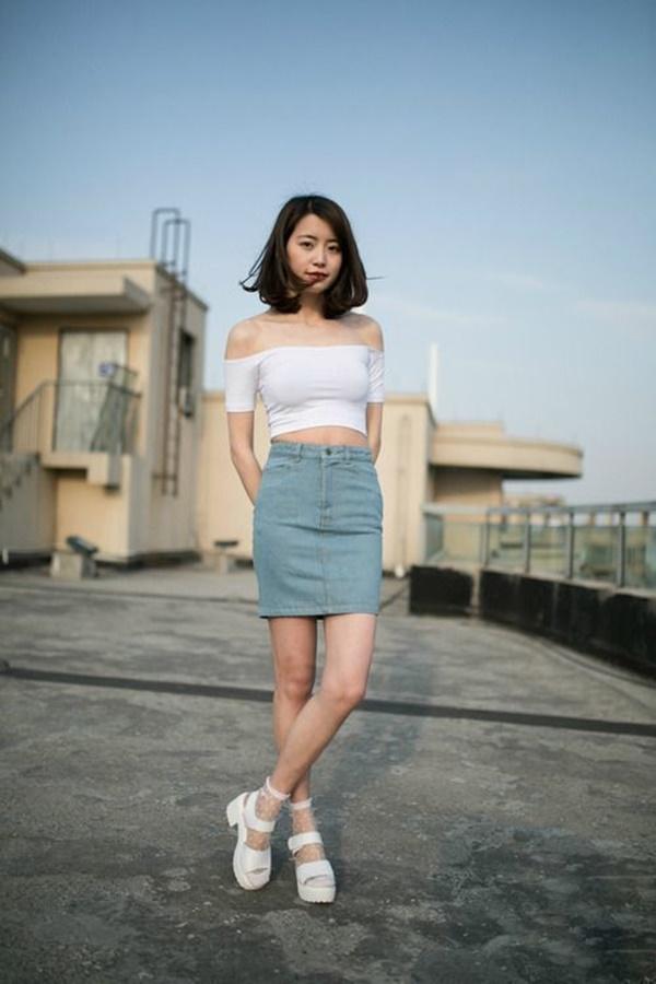 chân váy ôm ngắn hàn quốc