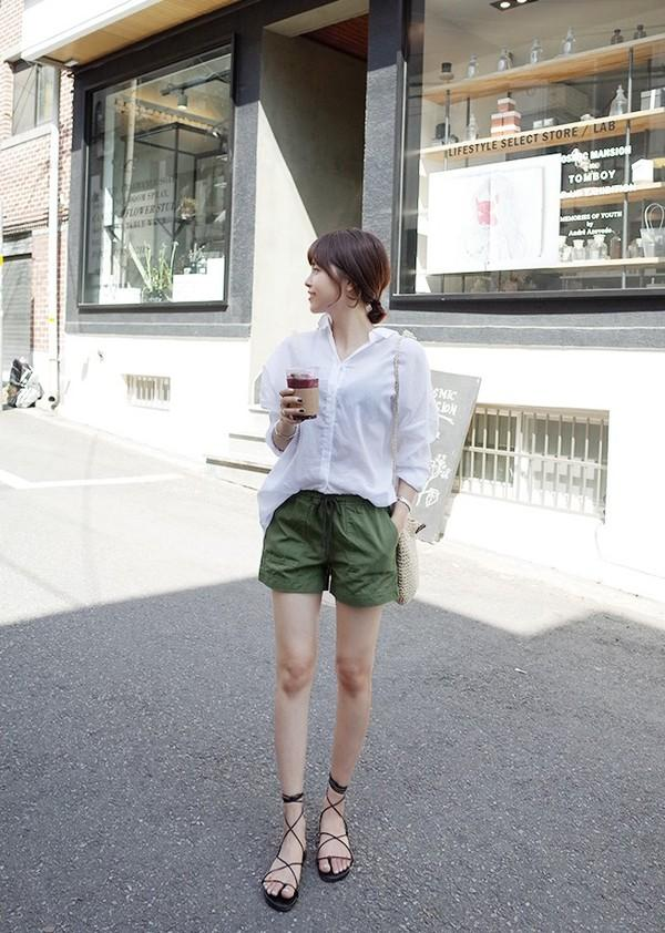 quần short nữ hàn quốc