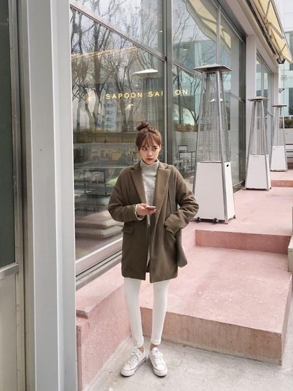 áo dạ nữ ngắn hàn quốc