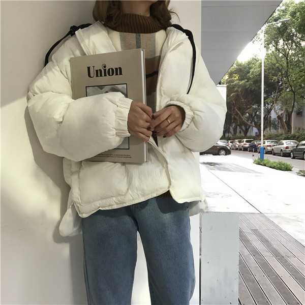 áo khoác phao hàn quốc