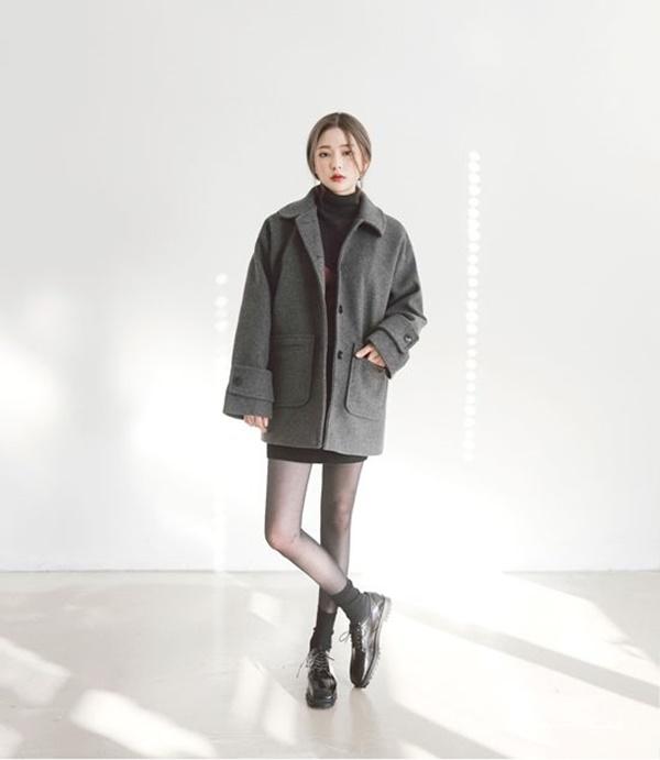 áo len cổ lọ nữ hàn quốc