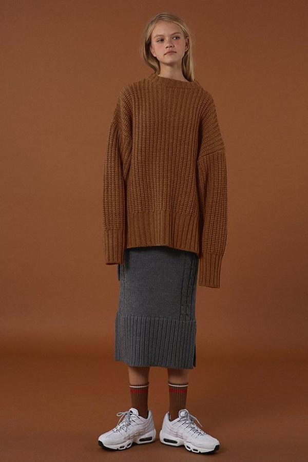 áo len dáng rộng hàn quốc