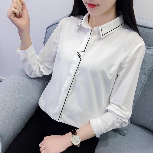 áo sơ mi viền đen hàn quốc