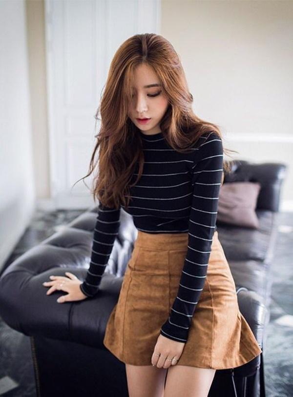 áo thun tay dài hàn quốc