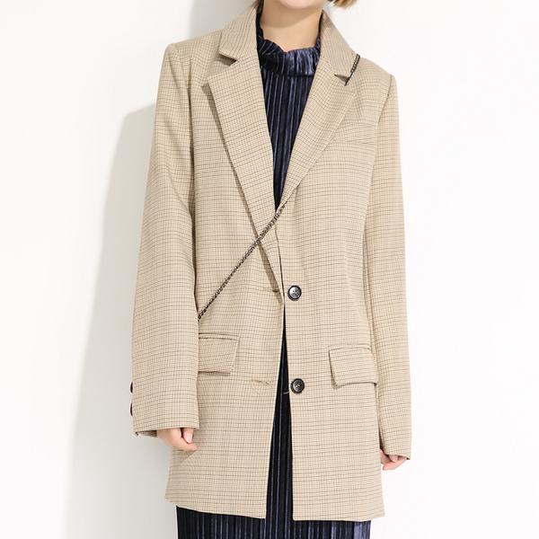 mẫu áo vest dáng dài hàn quốc
